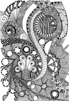 """""""Fife"""" ~ an official Zentangle tangle by Certified Zentangle Teacher Molly Hollibaugh Henna Doodle, Doodle Art, Doodle Ideas, Doodles Zentangles, Doodle Patterns, Zentangle Patterns, Quilting Patterns, Soul Collage, Drawing Projects"""