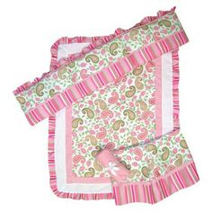 In love with this little girls bedding more than the other I pinned before <3  So cute!!  Gotta have it