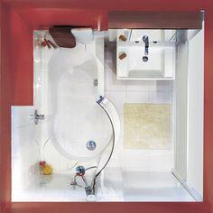 Bad mit Dusch- und(!) Bademöglichkeit dank TWINLINE 1 Duschbadewanne ...