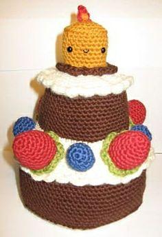 "Happy Birthday Cake :) Pattern in ""Amirugumi Two"" by Ana Paula Rimoli"