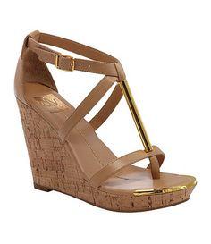 DV by Dolce Vita Tremor T-Strap Wedge Sandals-Dillards.com