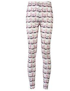 Cat Design Leggings For Women Cat Leggings, Printed Leggings, Women's Leggings, Geek Fashion, Fashion Trends, Ladies Fashion, Emoji, Cute Plus Size Clothes, Punk