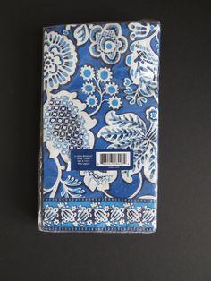 VERA BRADLEY Paper Guest Towels UNOPENED Pack of 15 Blue Lagoon Pattern Retired #VeraBradley