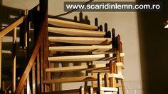 atelier de tamplarie scara interioara din lemn cu trepte de lemn suspendate pe corzi pret