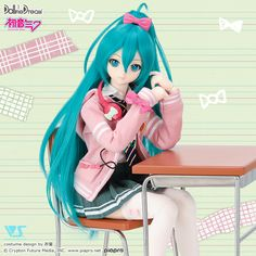 Ribbon Girl Outfit Set | Hatsune Miku×Dollfie Dream(R) | VOLKS INC.