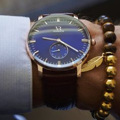 What do you think of this Royal Blue & Gold color combination? #vodrichTimepiece: Royce ($69) Bracelet: Tiger Eye ($27) Royal Blue And Gold, Blue Gold, Cool Watches, Watches For Men, Gold Color Combination, Men Accesories, Big Men Fashion, Beautiful Watches, Luxury Watches