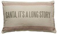 Primitive Country Christmas feedsack pillow www.finecountrylivingprimitives.com