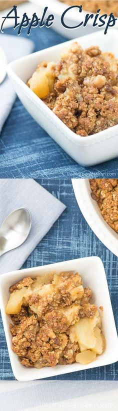 An all-time classic – simple, easy-to-make Apple Crisp with soft, juicy, flavorful apples with a crisp crumble top. Apple Crisp