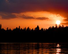 Sunset over Lake Itasca by Steven Smart