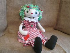 Handmade Primitive Country Christmas Elf by HeartstringsNStitchs