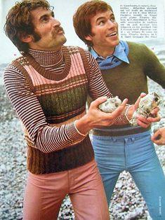 clothing advertisements show decade's cringe-worthy fashion Bad Fashion, 60s And 70s Fashion, Retro Fashion, Trendy Fashion, Vintage Fashion, Mens Fashion, Decades Fashion, Fashion Vest, Fashion Trends