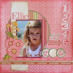 Layout: Ellie ~ a nice, simple layout with using the Glass Mat with Gridlines...very touching.