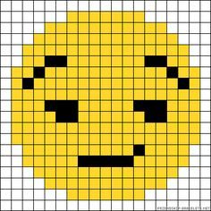 I hope you like emoji as much as I do. Fuse Bead Patterns, Perler Patterns, Loom Patterns, Beading Patterns, Perler Bead Emoji, Perler Beads, Emoji Patterns, Alpha Patterns, Beaded Cross Stitch