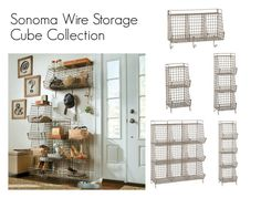 """Sonoma Wire Storage Cube Collection"" by improvements ❤ liked on Polyvore featuring interior, interiors, interior design, home, home decor, interior decorating and rustic"