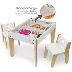 Pkolino | Little Modern kids Table and Chairs | White | PKFFMTCWH