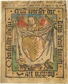 The Sacred Heart on a Cloth Held by an Angel Anonymous, German, Nuremberg, 15th century