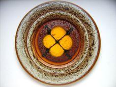 Keramik Wandteller 43cm Grünstadt West-Germany art pottery WGP Fat Lava vintage