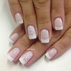 Best Wedding Nails Art Designs Nailart Ideas - The most beautiful nail designs Simple Wedding Nails, Wedding Nails Design, Wedding Nails For Bride, Ivory Wedding, Blue Wedding, Cute Nails, Pretty Nails, My Nails, Nail Polish