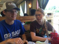 Eating out with the folks on moving day