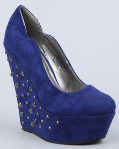 eva faux suede platform w studded heel