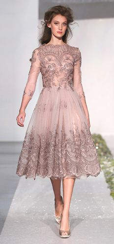 <3 Luisa Beccaria Lilac tulle with lurex embroidery full skirt dress