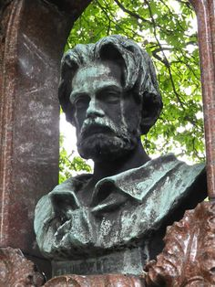 PARIS, FRANCE   l   Emile Zola's grave in the Cimetiere Montmartre features a bust of the writer.