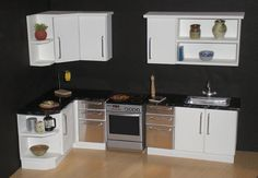 White modern 1/12th scale dollhouse kitchen | Flickr - Photo Sharing!