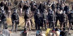 """Josh Fox: 'I Have Never Seen Anything Like This'.  Police violently cracked down on a peaceful protest led by the Standing Rock Sioux against the Dakota Access Pipeline Wednesday in Cannonball, North Dakota, firing mace, pepper spray and rubber bullets at point-blank range at """"water protectors"""" standing and praying harmlessly in the water."""