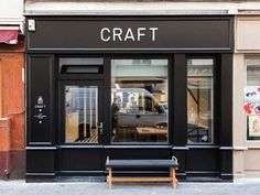 Love the elegant simplicity of the design of both the interior and identity of this café in Paris. I'd work there.