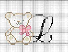 Artes e bordados da Sol: Nomes que eu Amei com a letra L Cross Stitch Letters, Cross Stitch Baby, Cross Stitch Charts, Crochet Stitches Patterns, Baby Knitting Patterns, Stitch Patterns, Crochet Home Decor, Cross Stitching, Crochet Projects