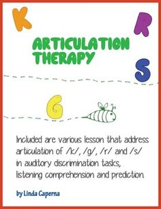 Articulation Therapy with lessons for /k/, /g/, /r/, and /s/ in auditory discrimination tasks, listening comprehension, and prediction.  Visit pinterest.com/arktherapeutic for more #speechtherapy games & activities