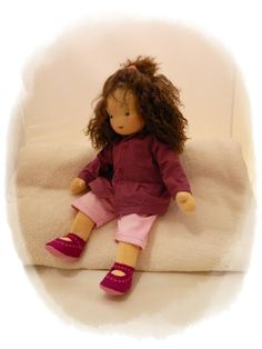 Puppen - FRANKA Puppenmädchen 45cm (Waldorfpuppe) - ein Designerstück von Franzis-Puppenkinder bei DaWanda