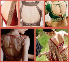Simple Back Neck Designs For Blouse & Blouse Designs Catalogue