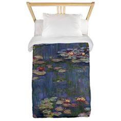 Claude Monet - Water Lilies Twin Duvet on CafePress.com