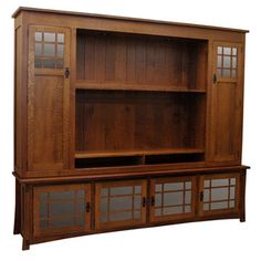"96"" Amish Craftsman Entertainment Center - ECJAD965720C1-ECJAD9624201"