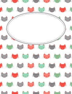Free printable cat binder cover template. Download the cover in JPG or PDF format at http://bindercovers.net/download/cat-binder-cover/