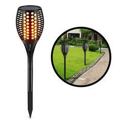 Zugo Solar Path Dancing Flame Tiki Torch Light (2 Pack)