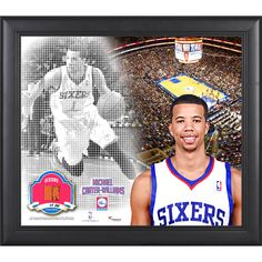 """Michael Carter-Williams Philadelphia 76ers Fanatics Authentic Framed 15"""" x 17"""" Mosaic Collage with Team-Used Basketball-Limited Edition of 99 - $71.99"""