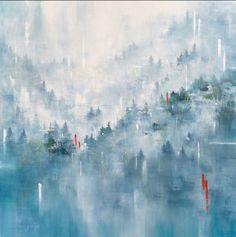 """Gina Sarro   Artist on Instagram: """"I am so very thankful to everyone who has supported me over the last few months, as we all learn to cope with this new reality in our own…"""" Abstract Landscape, West Coast, Mists, This Is Us, Thankful, Photo And Video, Artist, Landscapes, Paintings"""