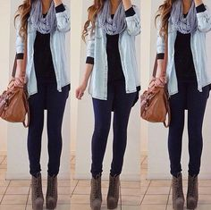Casual style with easy winter fashion and cute outfits for winter Casual Fall Outfits, Casual Winter Outfits, Winter Fashion Outfits, Simple Outfits, Look Fashion, Autumn Winter Fashion, Cute Outfits, Fashion Black, Fall Fashion