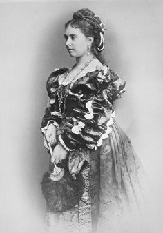 Victoria, Princess Royal and Crown Princess of Prussia, February 1875. Firstborn child of Queen Victoria. Photo taken on 8 February 1875 when the Princess attended a Fancy Dress Ball in Berlin