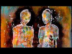 Arist Gang Mixed Media Figures Canvas
