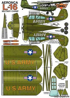 AERONCA-L16 [Fiddlers Green] из бумаги, модели бумажные скачать бесплатно. Papercraft, paper model free download template. Paper Airplane Models, Model Airplanes, House Colouring Pages, Paper Aircraft, Cardboard Model, Airplane Drawing, Puzzle Crafts, Free Paper Models, Military Drawings