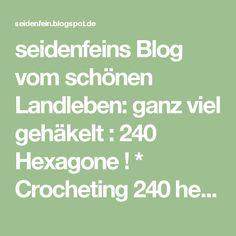 seidenfeins Blog vom schönen Landleben: ganz viel gehäkelt : 240 Hexagone  ! * Crocheting 240 hexagons & DIY