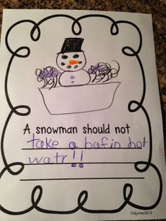 Sneezy the Snowman Unit and Freebie... awesome unit that ties in literature, writing, art, and math! From Mrs. Jump's Class