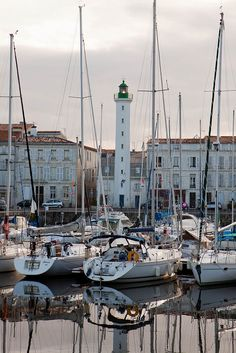 La Rochelle Lighthouse, France.Station established in 1860, it is not known when the lighthouse was built