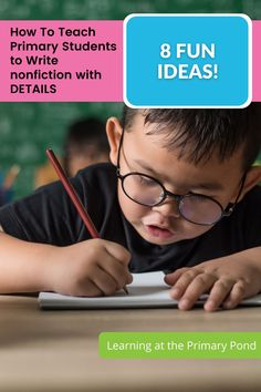Do your students write with lots of details? If not, you're not alone. In this post, I go more in-depth and focus on writing details in nonfiction. I'll provide ideas for different lessons and videos for 3 of the lessons. #primarystudents #primaryteachers #wordwork #primarygradeactivites #writing #nonfiction Nonfiction Activities, Learning Activities, Writing Workshop, Home Schooling, Word Work, Second Grade, Kindergarten, Students, Classroom
