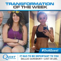 Read how Dallas Sainsbury overcame Crohn's disease, lost 30 lbs., and pursued becoming an NPC bikini competitor. #OnaQuest #TransformationTuesday