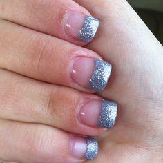 Glitter tips:)