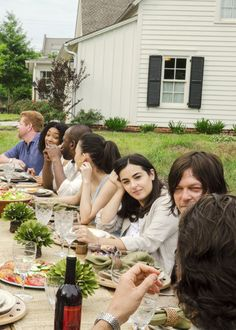 The Walking Dead 7.01: 'The Day Will Come When You Won't Be'  ~ This dinner scene made me cry so hard